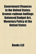 Government Finances in the United States: Monetary Policy of the United States