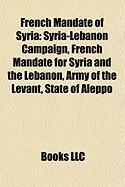 French Mandate of Syria: Syria-Lebanon Campaign, French Mandate for Syria and the Lebanon, Army of the Levant, State of Aleppo
