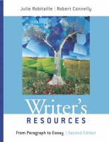 Writer's Resources: From Paragraph to Essay - Robitaille, Julie; Connelly, Robert