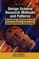 Design Science Research Methods and Patterns: Innovating Information and Communication Technology