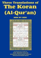 Three Translations of the Koran (Al-Qur'an)-Side-By-Side - Hafiz Ali