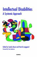 Intellectual Disabilities: A Systemic Approach