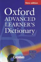 Oxford Advanced Learner's Dictionary of Current English. Deutsche Ausgabe. Mit CD-ROM (Vollversion)
