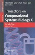 Transactions on Computational Systems Biology X
