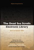 The Dead Sea Scrolls Electronic Library [With Booklet]