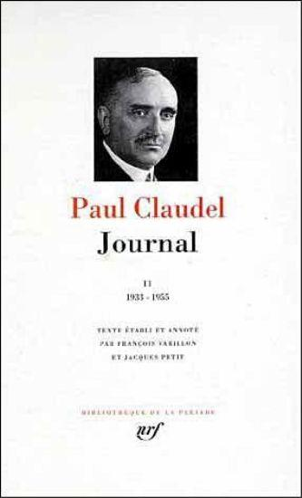 Journal t.2 ; 1933-1955 - Claudel, Paul