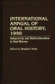 International Annual of Oral History, 1990 - Ronald J. Grele
