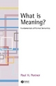 What is meaning? - Paul H. Portner
