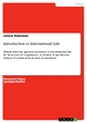 Introduction to International Law - Jennie Robinson