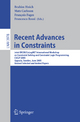 Recent Advances in Constraints - Brahim Hnich; Mats Carlsson; Francois Fages; Francesca Rossi