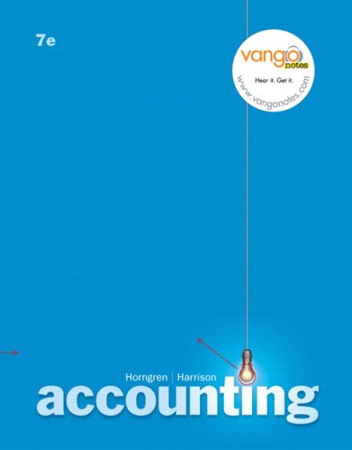 Accounting Chapters 1-18 (Charles T. Horngren Series in Accounting) - Horngren, Charles T., Walter T. Harrison and Linda S. Bamber