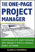 The One-Page Project Manager - Clark A. Campbell