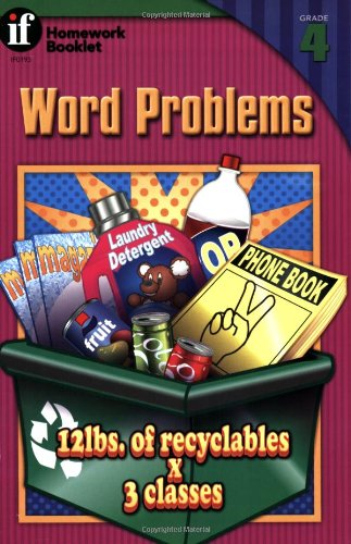 Word Problems Homework Booklet, Grade 4 (Homework Booklets) - Andrea Miles Moran; Bill Linderman