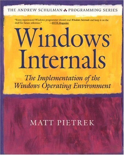 Windows Internals: The Implementation of the Windows Operating Environment - Matt Pietrek