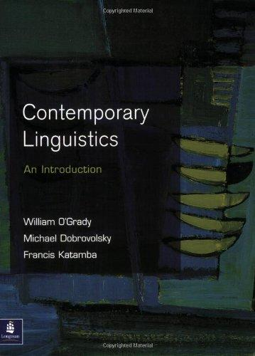 Contemporary Linguistics: An Introduction (Longman Sociology Series) - O'Grady, William